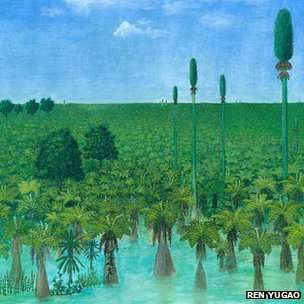 A reconstruction depicts the swampy land that was covered up 300 million years ago.