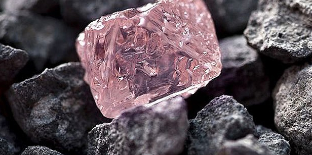 A 12.76 carat pink diamond, the largest of the rare and precious stones ever found in Australia, has been named the Argyle Pink Jubilee. Photo: AFP