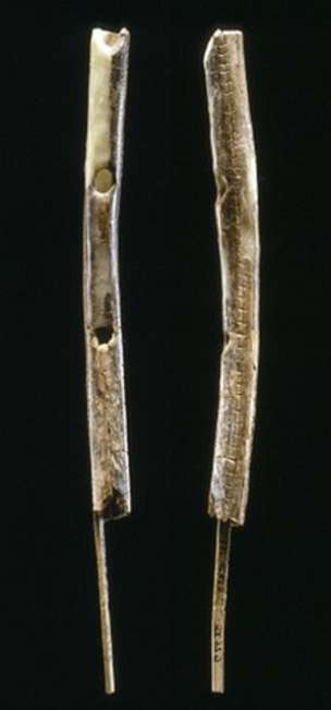 One of the flutes has been fashioned from mammoth ivory