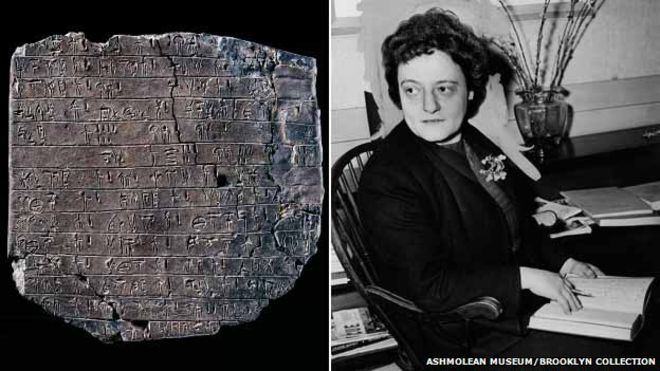 One of the few pictures of the woman who worked behind the scenes on Linear B