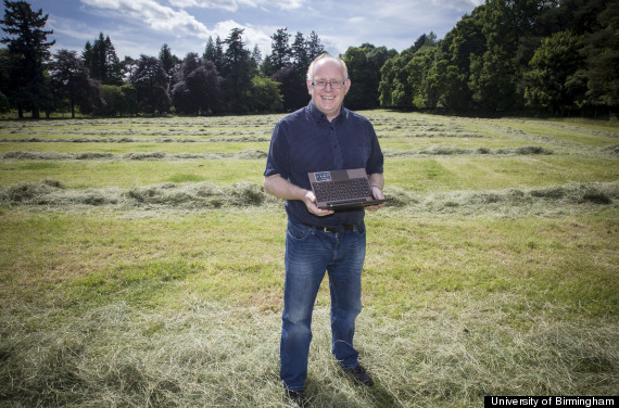 Vince Gaffney, professor of landscape and archaeology at University of Birmingham, stands in Warren Field, Crathes, Aberdeenshire, where the discovery was made.