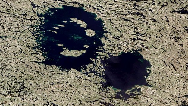 The Clearwater East and West craters are the best known candidates for a double impact