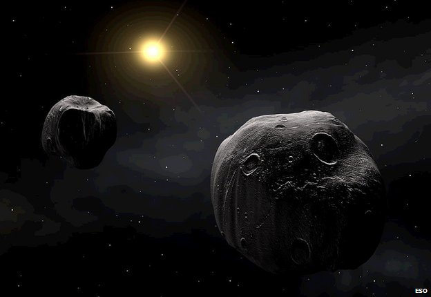 (Image above: About 15% of near-Earth asteroids are binaries.)