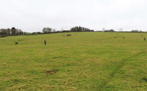 The site where metal detectorist Paul Coleman found the hoard is a large field in Buckinghamshire, and the December detecting rally wasn't the first to trace the ground in search of hidden history.