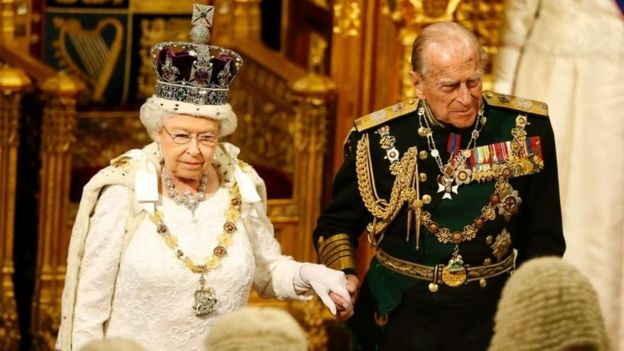The Queen wears stones from the Cullinan diamond at the State Opening of Parliament in May