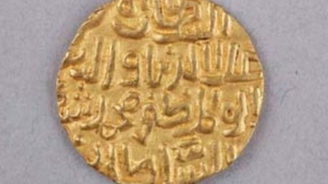 Chinese experts are stumped by the writing on the coins (Image Coutesy: Jinshi Cultural Relics Bureau)