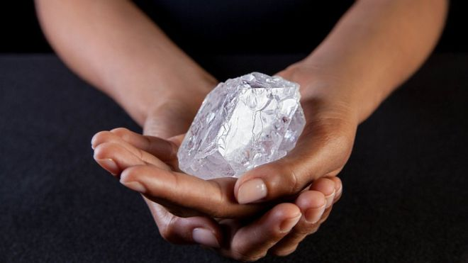 The second biggest ever rough diamond was discovered in Botswana. Image courtesy of DONALD BOWERS