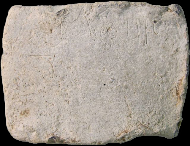 "This lead tablet is inscribed with the word ""Cudberg,"" an Anglo-Saxon woman's name. Image courtesy of University of Sheffield"