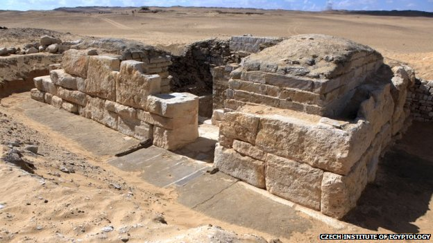 The tomb dates to the Fifth Dynasty of the Pharaohs - about 4,500 years ago