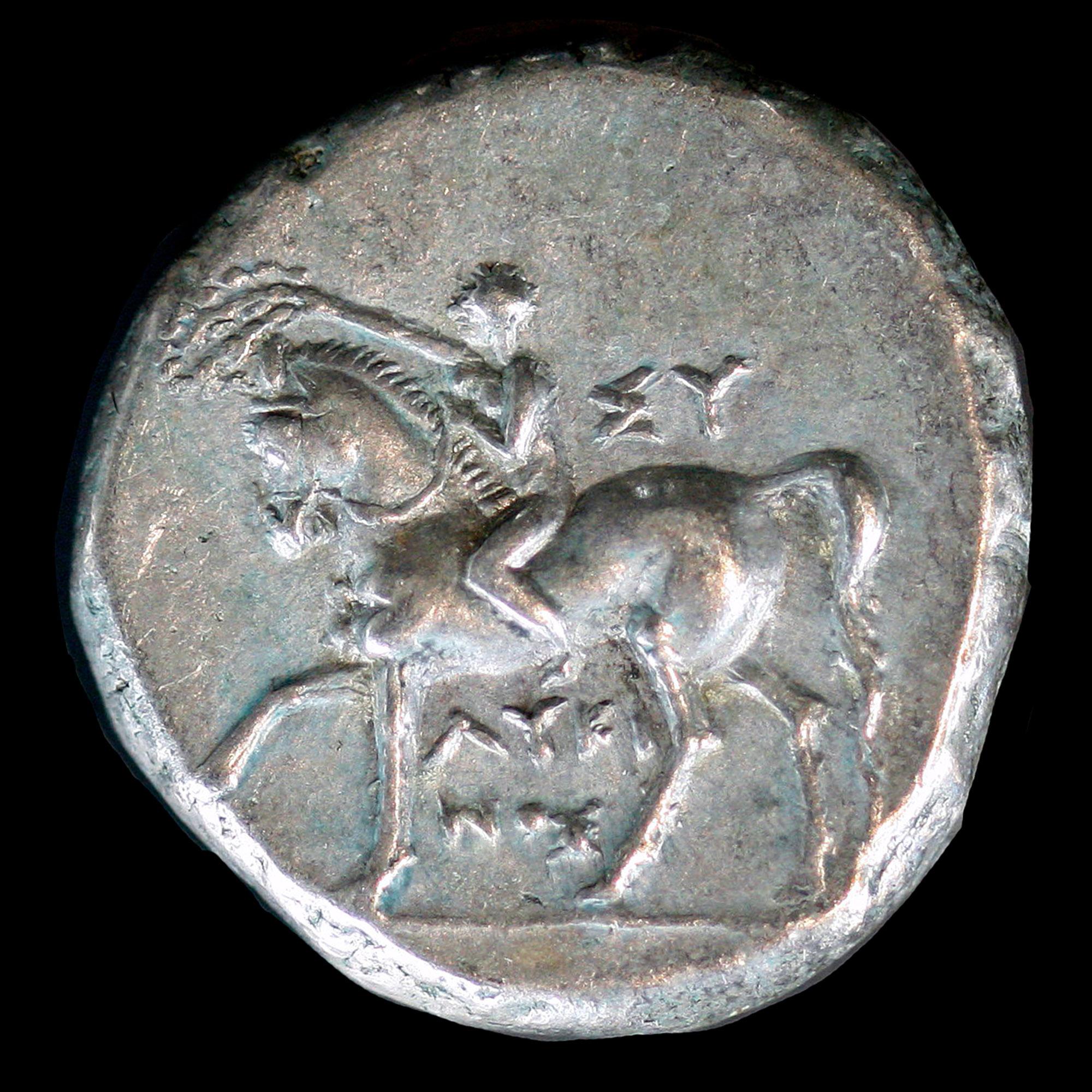 [#499641] Coin, Calabria, Stater, 281-272 BC, Tarentum, EF