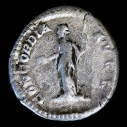 Plautilla Silver Denarius Ancient Coin