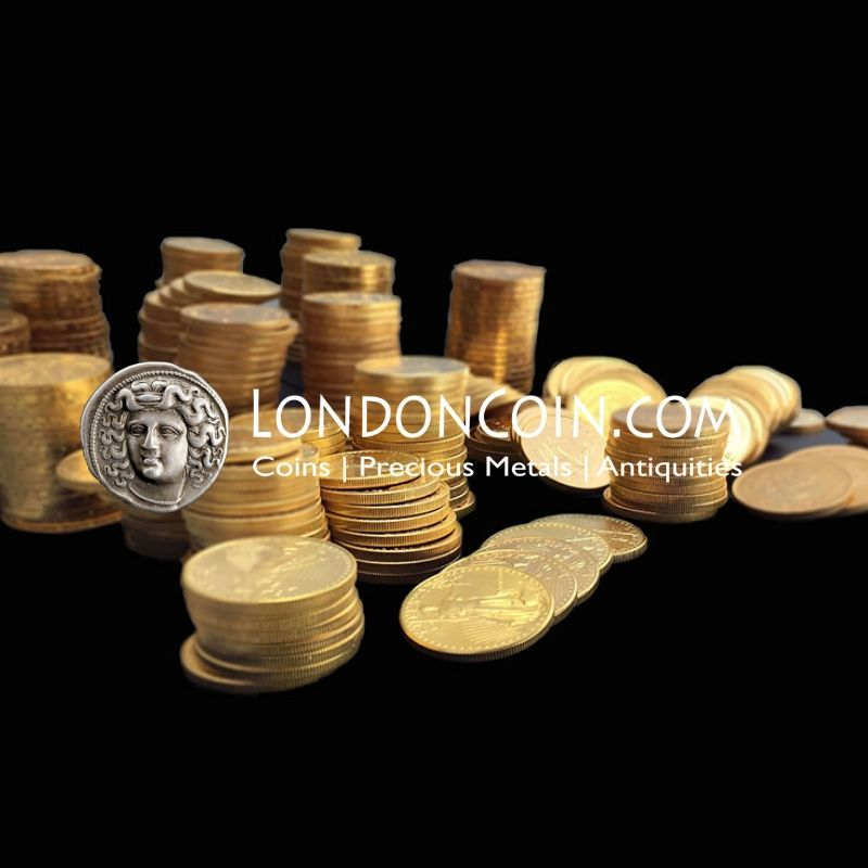 gold foreign coins and us coins